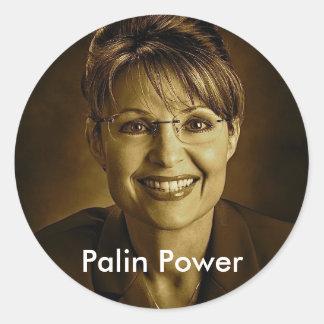 Palin driver runt klistermärke