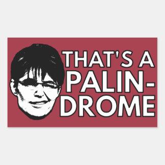 Palin Drome Rektangulärt Klistermärke