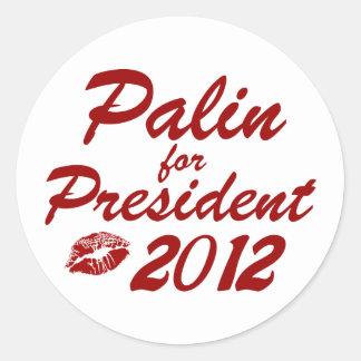 Palin för president runt klistermärke
