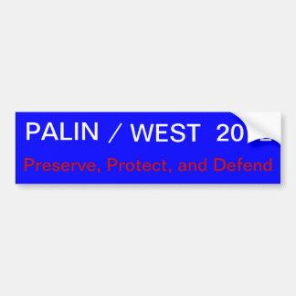 PALIN-/, VÄSTER, 2012, sylt, skyddar, och De… Bildekal