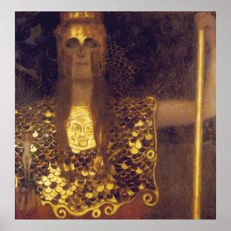 Pallas Athena av Gustav Klimt Poster
