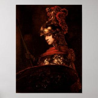 Pallas Athena eller, armerad figur, 1664-65 Poster