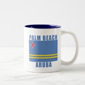 PALM BEACH ARUBA strandTshirts, gåvor Två-Tonad Mugg