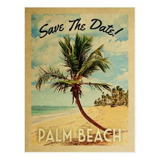 Palm Beach Florida spara dateravintagen Vykort
