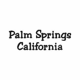 Palm Spring Kalifornien broderad Poloskjorta!!! Broderad Tröja