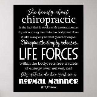 Palmer citationstecken skönheten om Chiropractic Poster