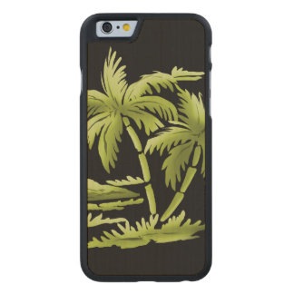 Palmträd Carved Lönn iPhone 6 Slim Skal