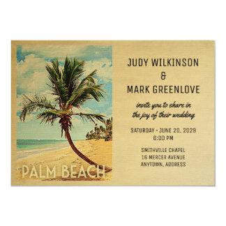 Palmträd för strand för Palm Beach bröllopinbjudan 12,7 X 17,8 Cm Inbjudningskort