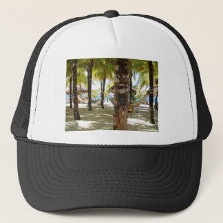 Palmträd och hängmatta truckerkeps