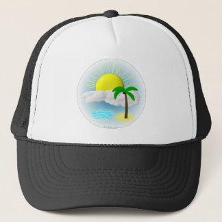 Palmträd, sol och strand truckerkeps