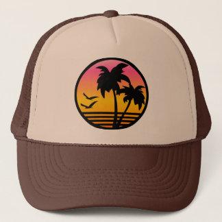 palmträd sommar truckerkeps