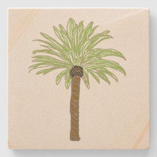 Palmträdet skissar stenunderlägg
