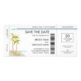 Palmträdlogiet passerar spara daterainbjudningarna