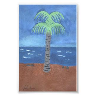 Palmträdmålning av Julia Hanna Fotontryck