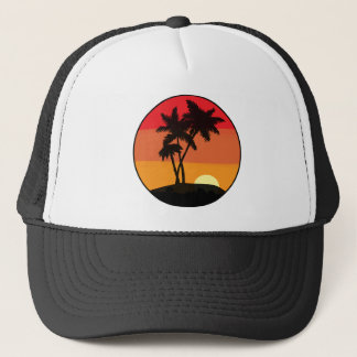 Palmträdsolnedgång Keps