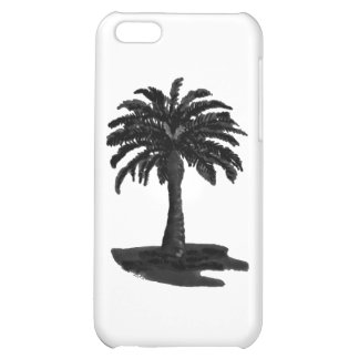 Palmträdsvart de MUSEUMZazzle gåvorna iPhone 5C Skydd