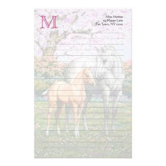 Palominoföl och gråtthäst brevpapper