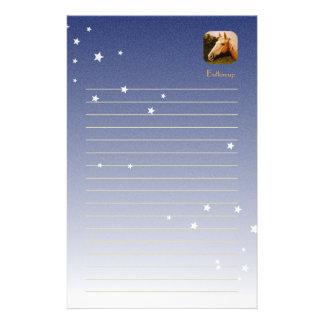 Palominohäst med viteldsvåda brevpapper