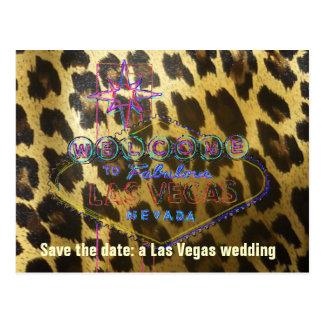 Päls för Las Vegas bröllopLeopard Vykort