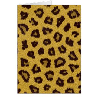 Pälssamlingen - Leopard Hälsningskort