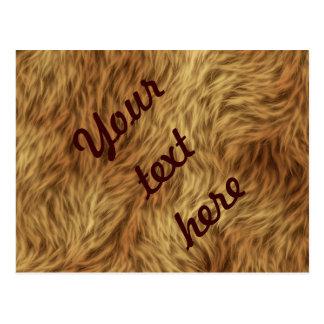 Pälssamlingen - lurvig päls vykort