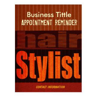 Påminnelse för hårstylisttidsbeställning vykort