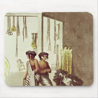 Pampaindier på ett lager i indier marknadsför musmatta