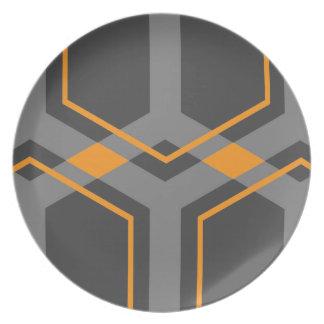 Panal (orange) pläterar tallrik