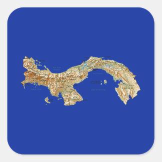 Panama kartaklistermärke fyrkantigt klistermärke