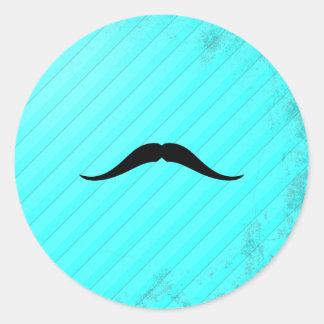 Pancho villamustasch runt klistermärke