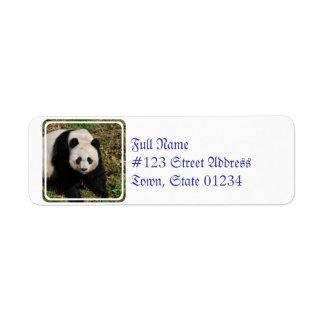 panda-92 returadress etikett