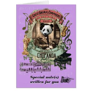 Panda för Chopin parodiChopanda rolig djur Hälsningskort