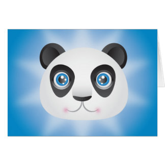 Panda Hälsningskort