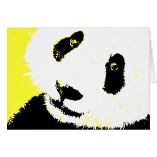 panda. hälsningskort