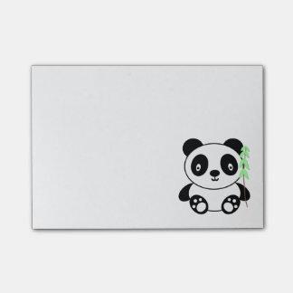 Panda med bambu post-it block