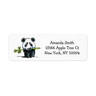 Panda med enkel bambu returadress etikett