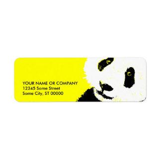 panda. returadress etikett