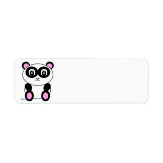 Panda Returadress Etikett