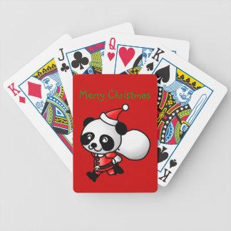 Panda Santa som leker kort Spelkort