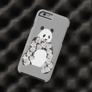 Panda som äter bambuillustrationen tough iPhone 6 fodral