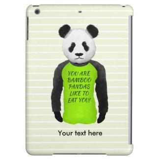 Panda som ha på sig en rolig T-tröja
