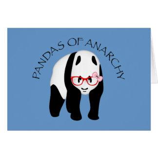 Panda som ha på sig exponeringsglasanarki hälsningskort