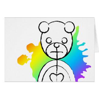 panda splatz. hälsningskort