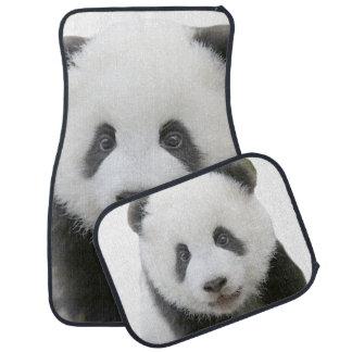 Pandaansikte Bilmatta