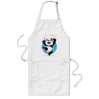 Pandabanhoppning i spänning långt förkläde