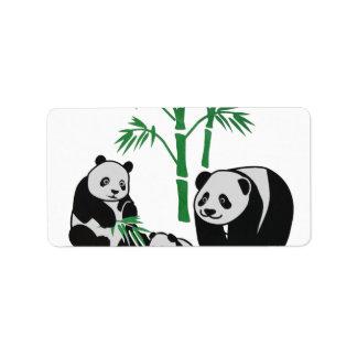 Pandabjörn Adressetikett