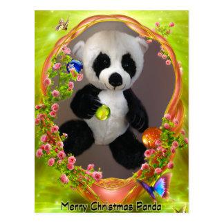Pandabjörn i en basketramvykort vykort