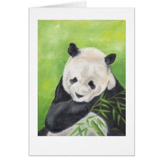 Pandabjörn med bambu hälsningskort