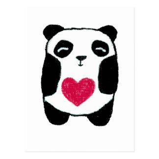 Pandabjörn med en hjärtavykort vykort