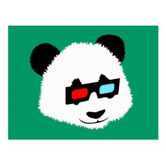 Pandabjörn med exponeringsglas 3D Vykort